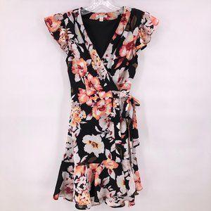 Like New Miami black floral print dress
